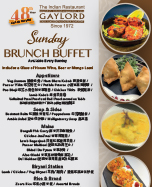 Gaylord Buffet Menu