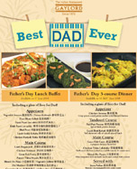 Gaylord Father's Day Menu