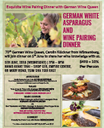 Namo German Wine Dinner 8 May 2019
